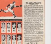 1963 baseball handbook and schedules