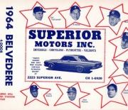 1964 cleveland indians game program