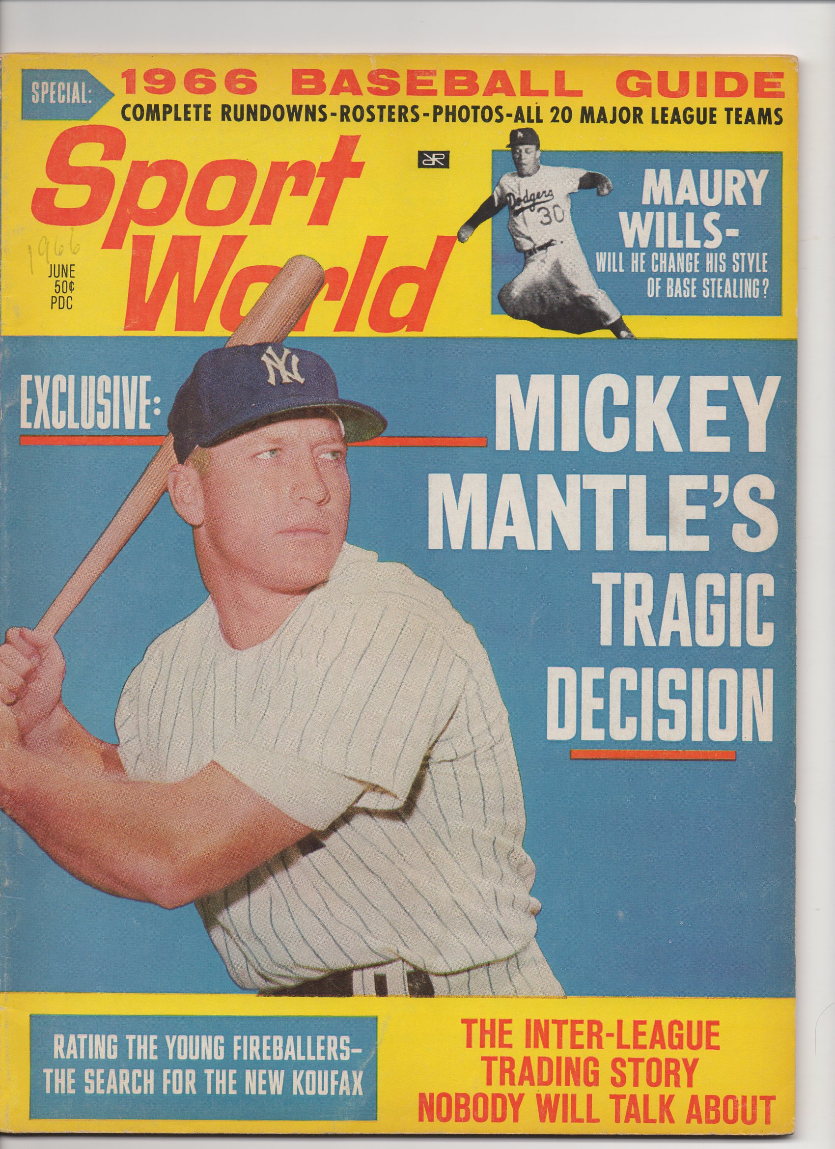 1966 sport world baseball guide, june