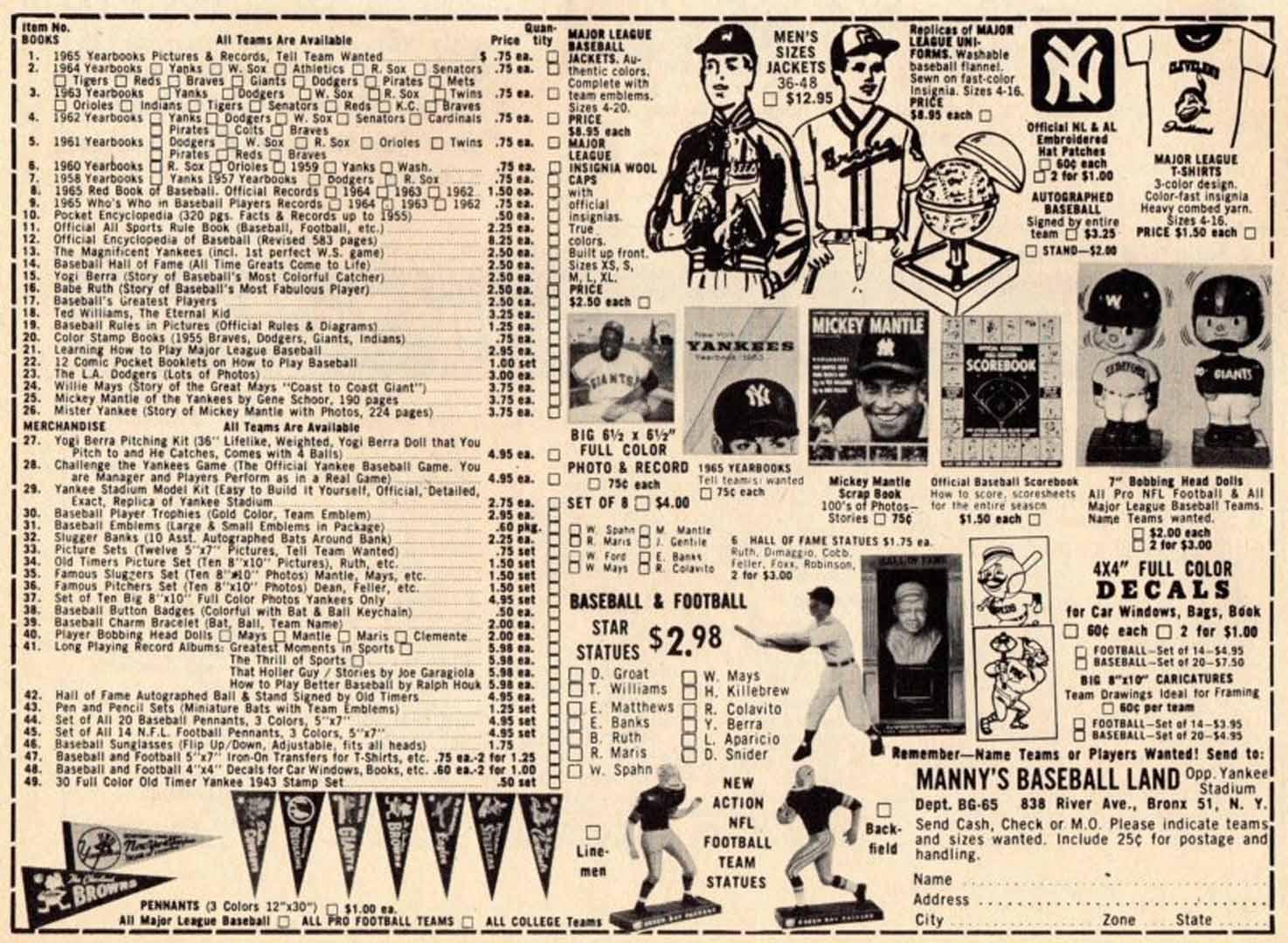 1965 baseball news