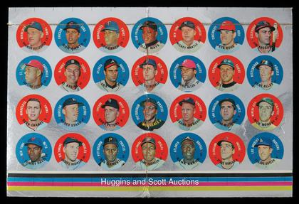 1968 topps discs test set sheet