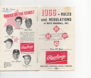 1966 rawlings rules and regulations of boys baseball