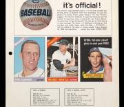1966 topps salesmans sheet