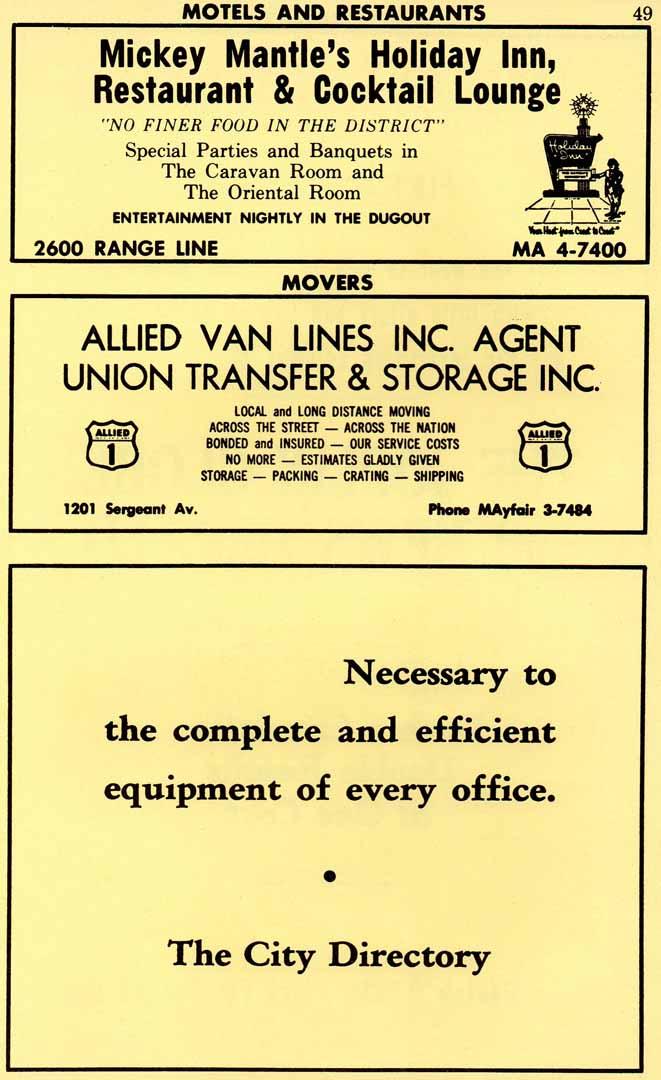 1965 joplin, mo city directory