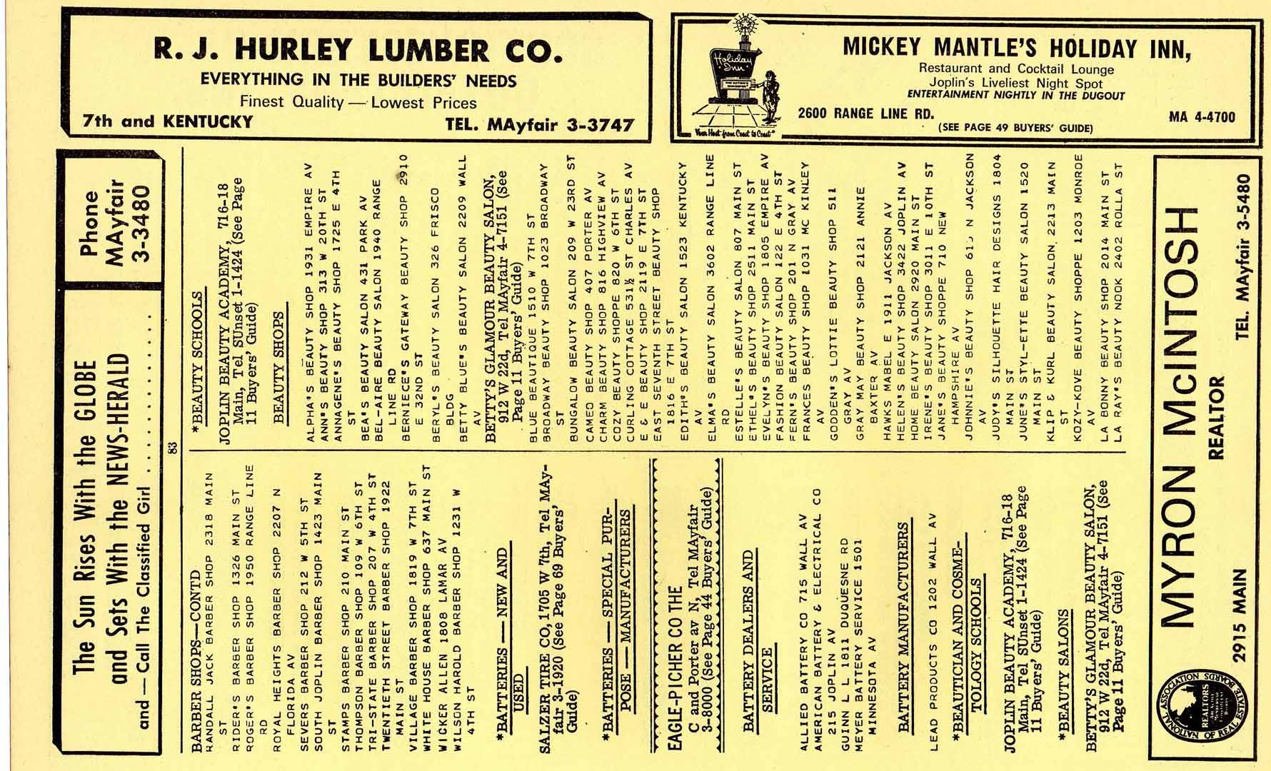 1965 joplin mo city directory