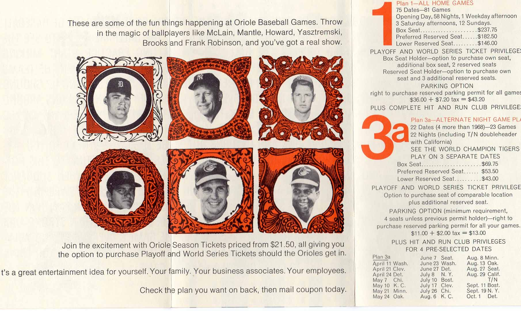 1969 baltimore orioles pamphlet