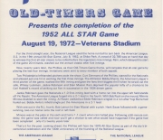 1972 phillies old timers game 08/19/1972