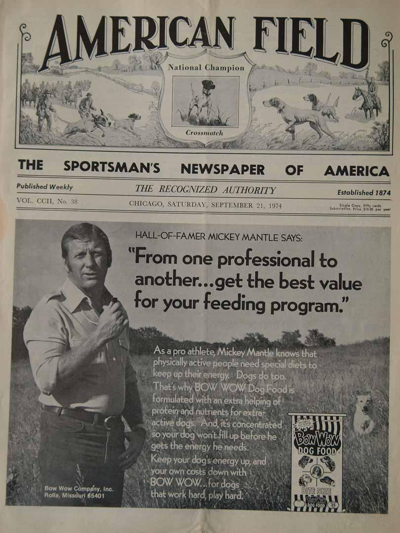 1974 american field mag 09/21