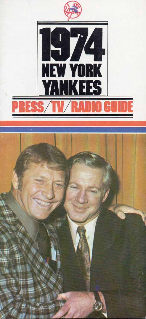 1974 NYY press tv radio guide