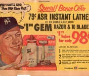 1950 era early unknown newspaper ad