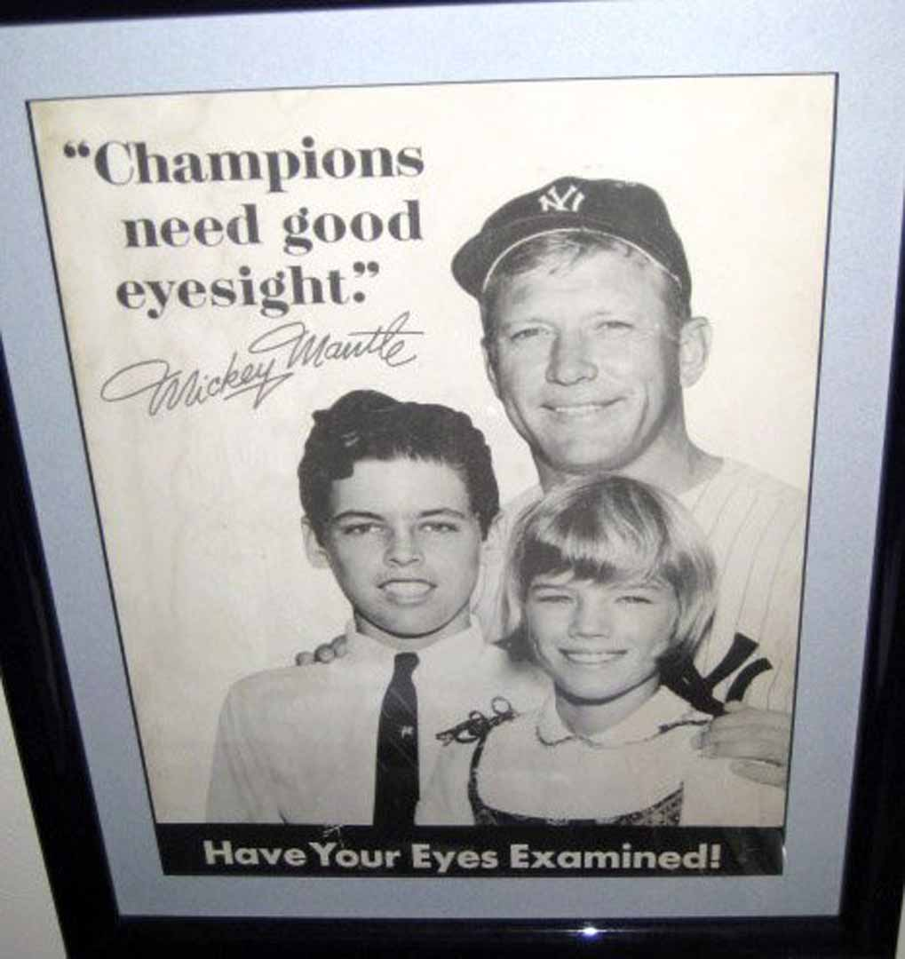 1950 era eye sight ad
