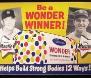 wonderbread cardboard sign