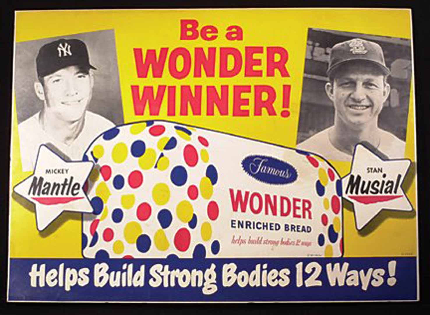 wonderbread cardboard sign