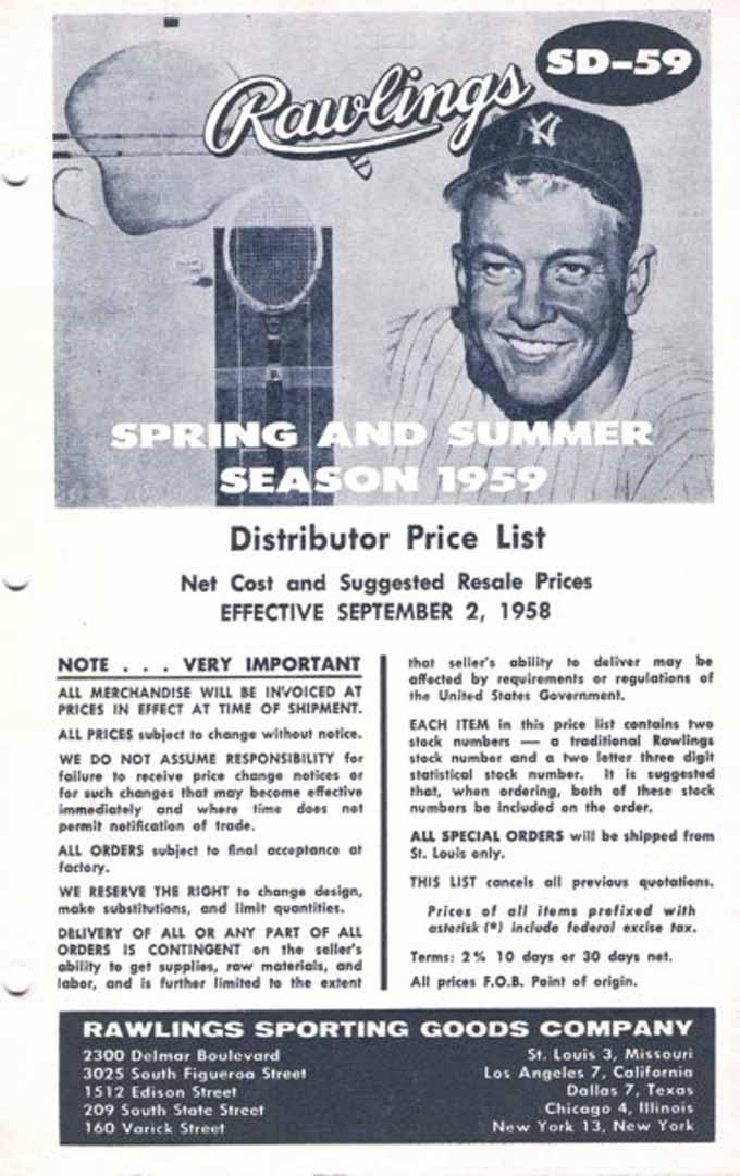 1958 rawlings salesmans book September