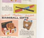 1962 rawlings gift set, 6 page flyer