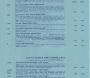 1956 rawlings price list