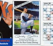 1991 NY Knickerbockers schedule