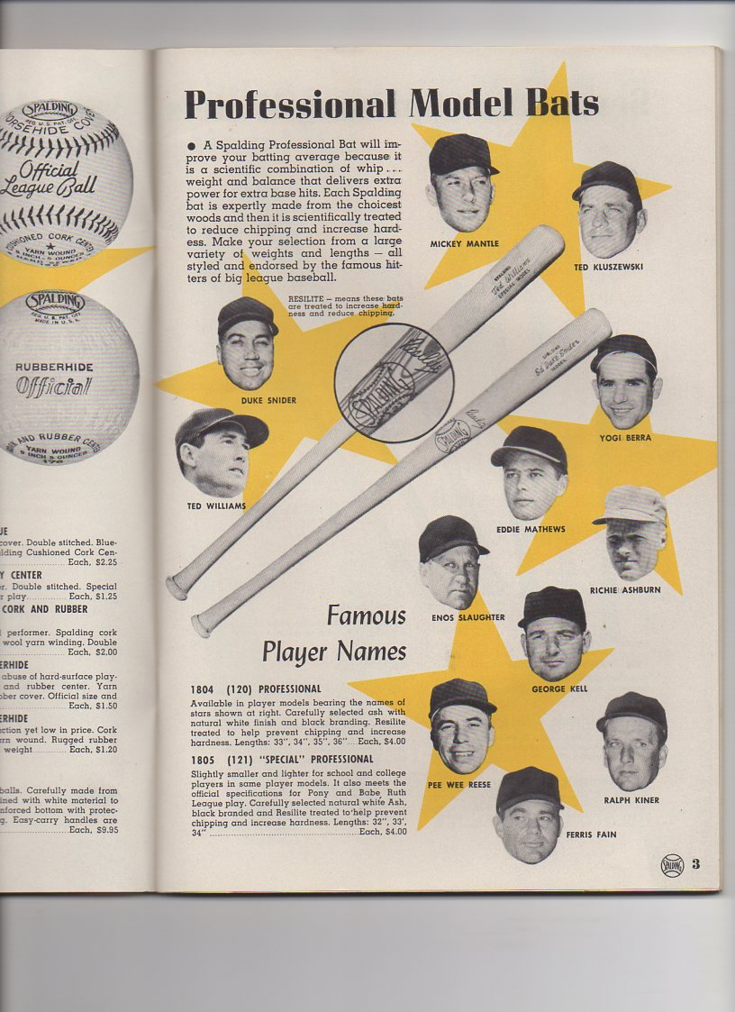 1956 spalding spring and summer