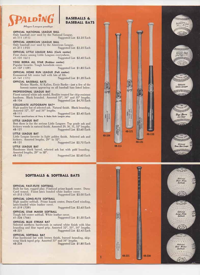 1962 spalding premium buyers catalog