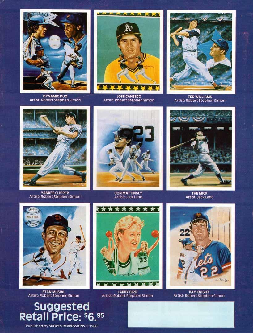 1986 sports impressions 18x24 sports posters