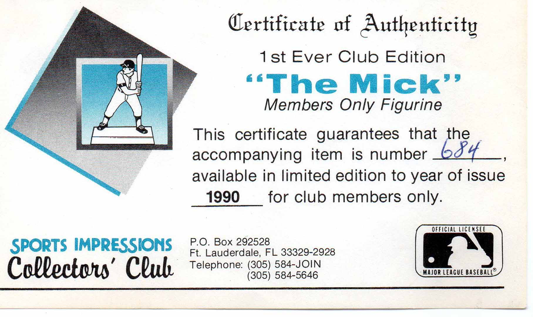 1996 sports impressions collectors club