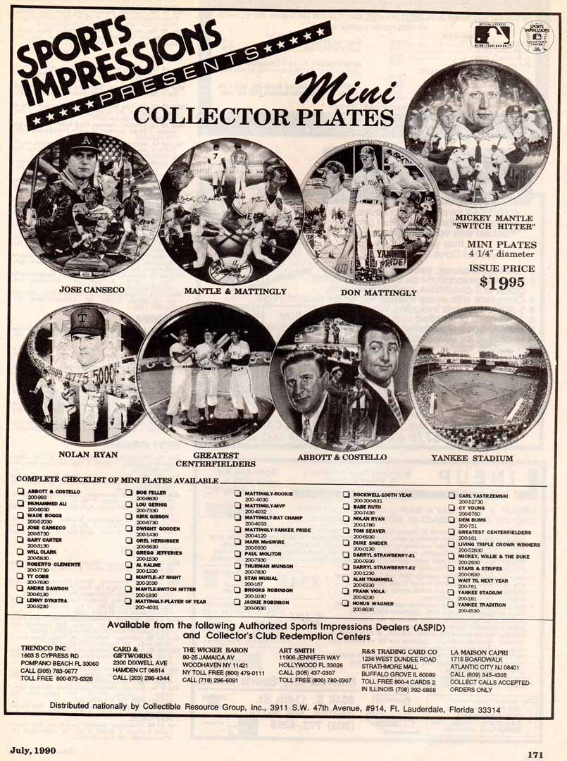 1990 baseball cards july