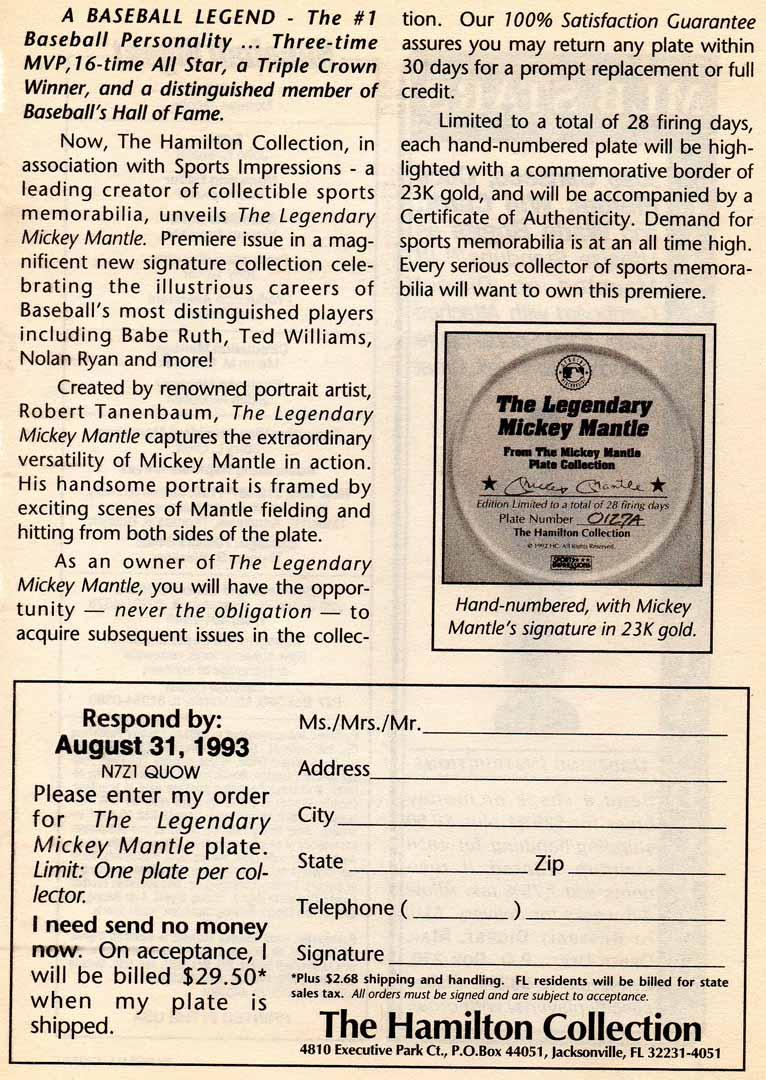 1993 baseball digest