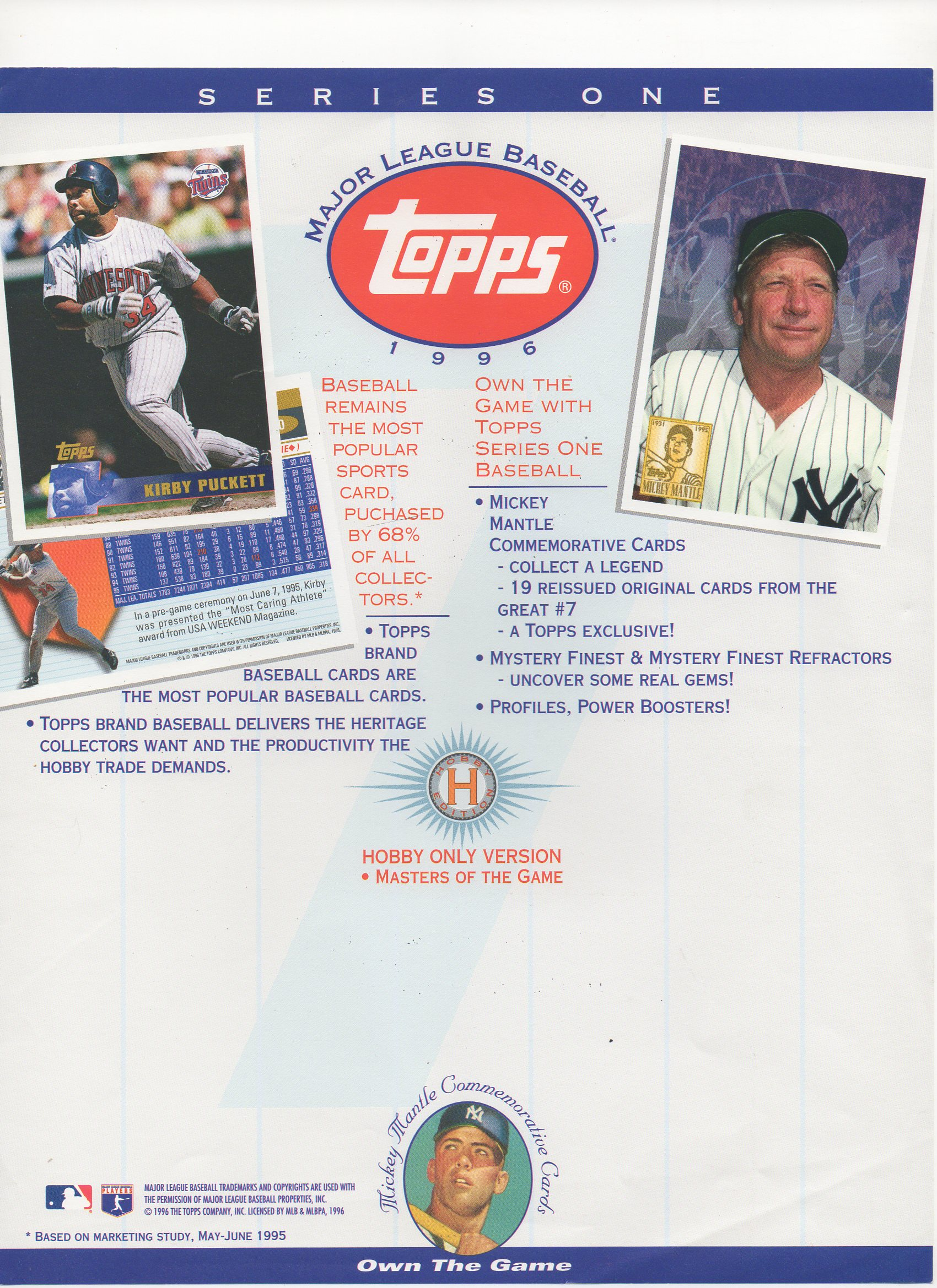 1995 topps series 1, blank back flyer