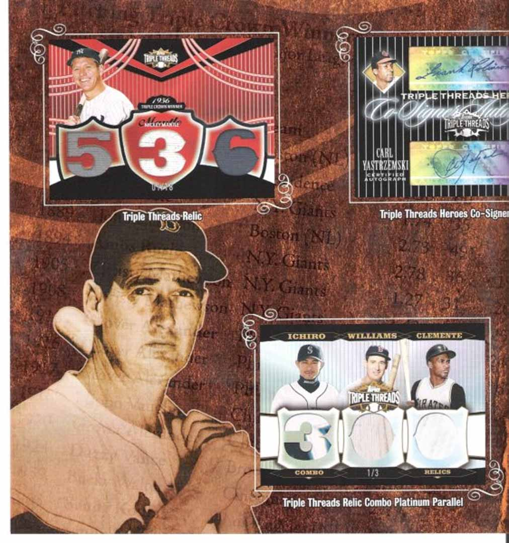 2006 topps triple threads