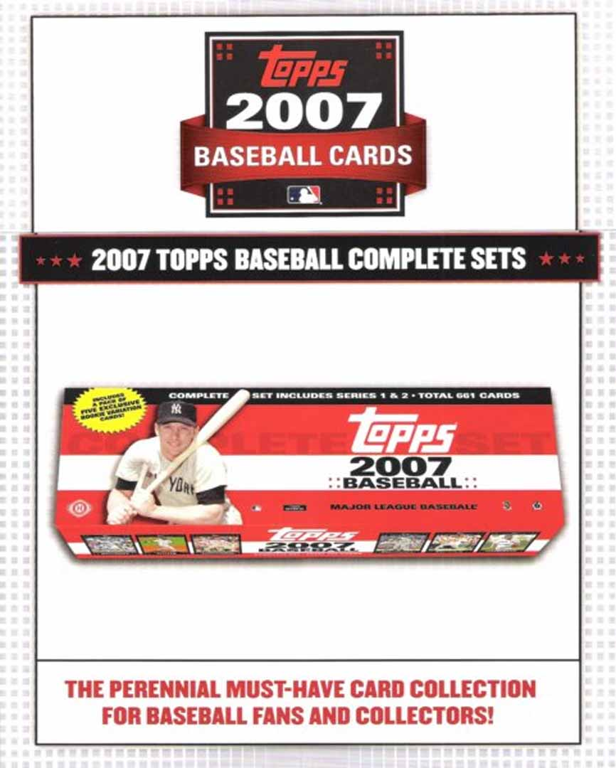 2007 baseball complete sets