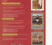 2006 topps 2 page heavy stock foldout