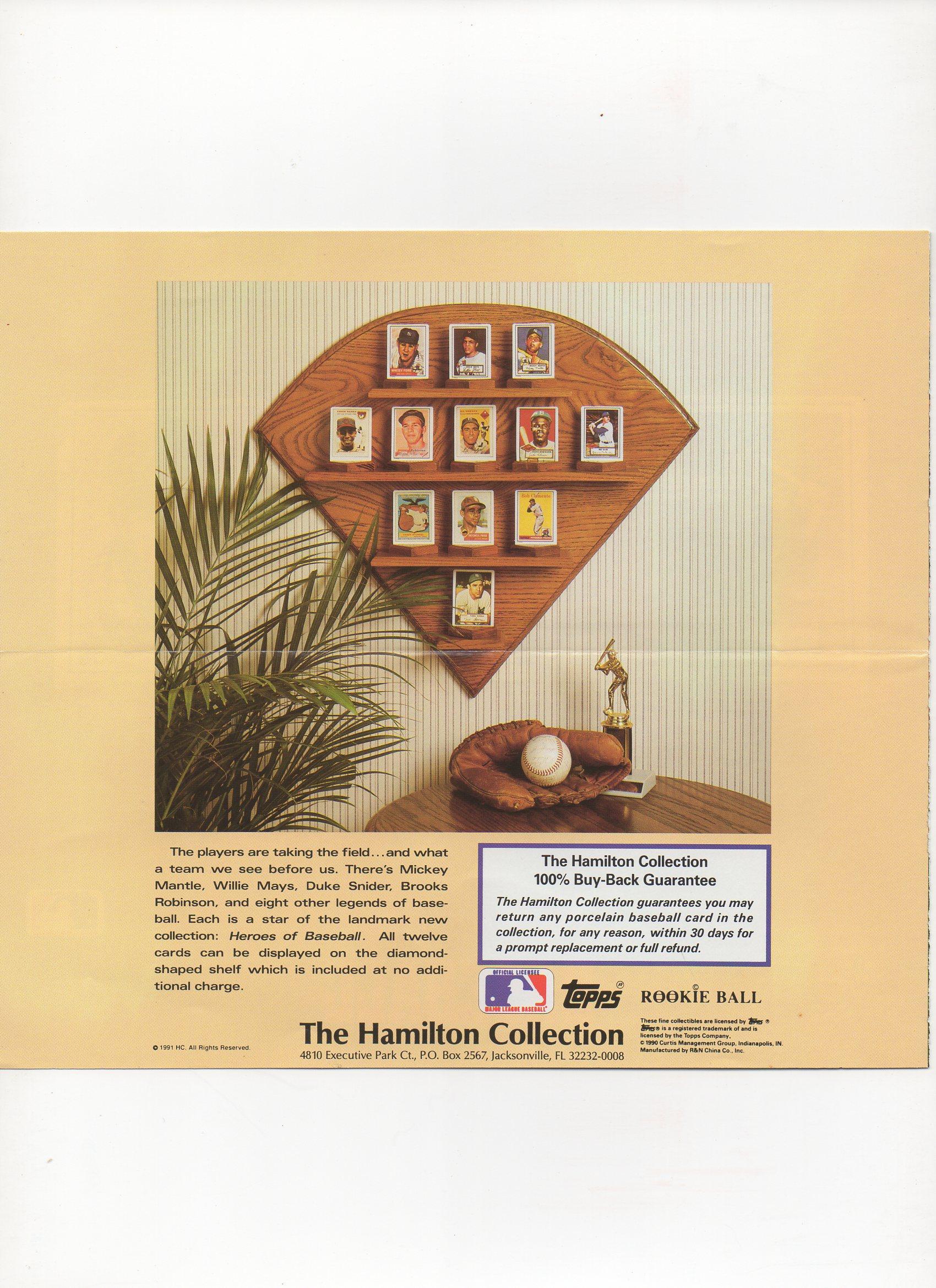 1990/91 topps/hamilton, 4 page flyer