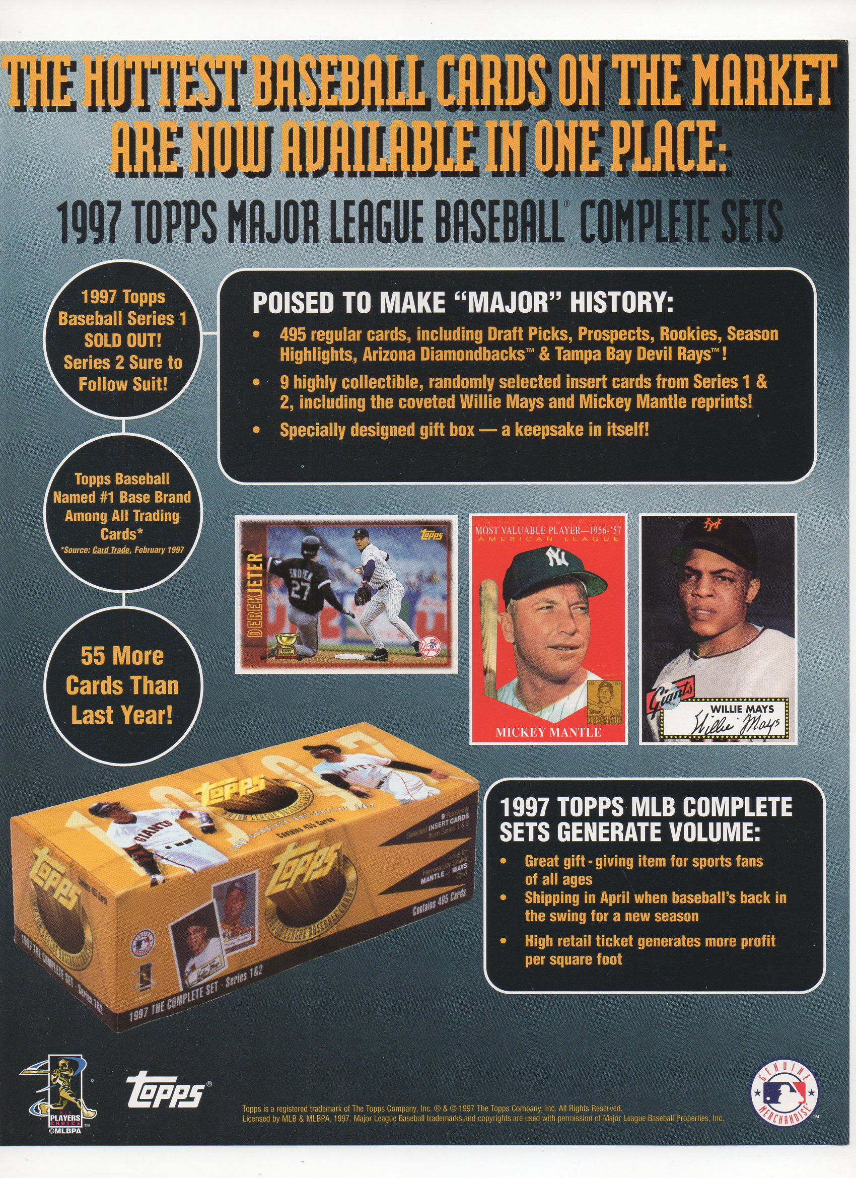 1997 Topps ad flyer, one sided