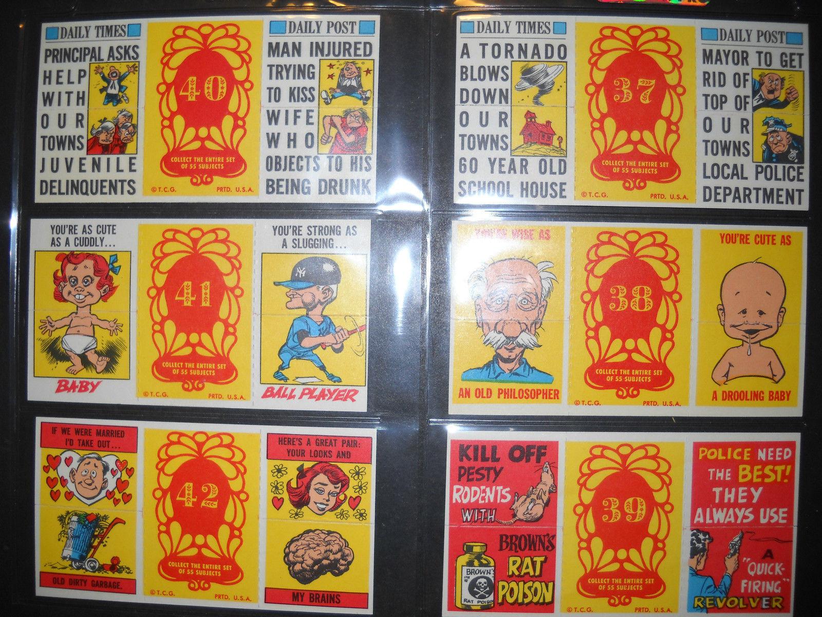 1970 topps valentine foldees