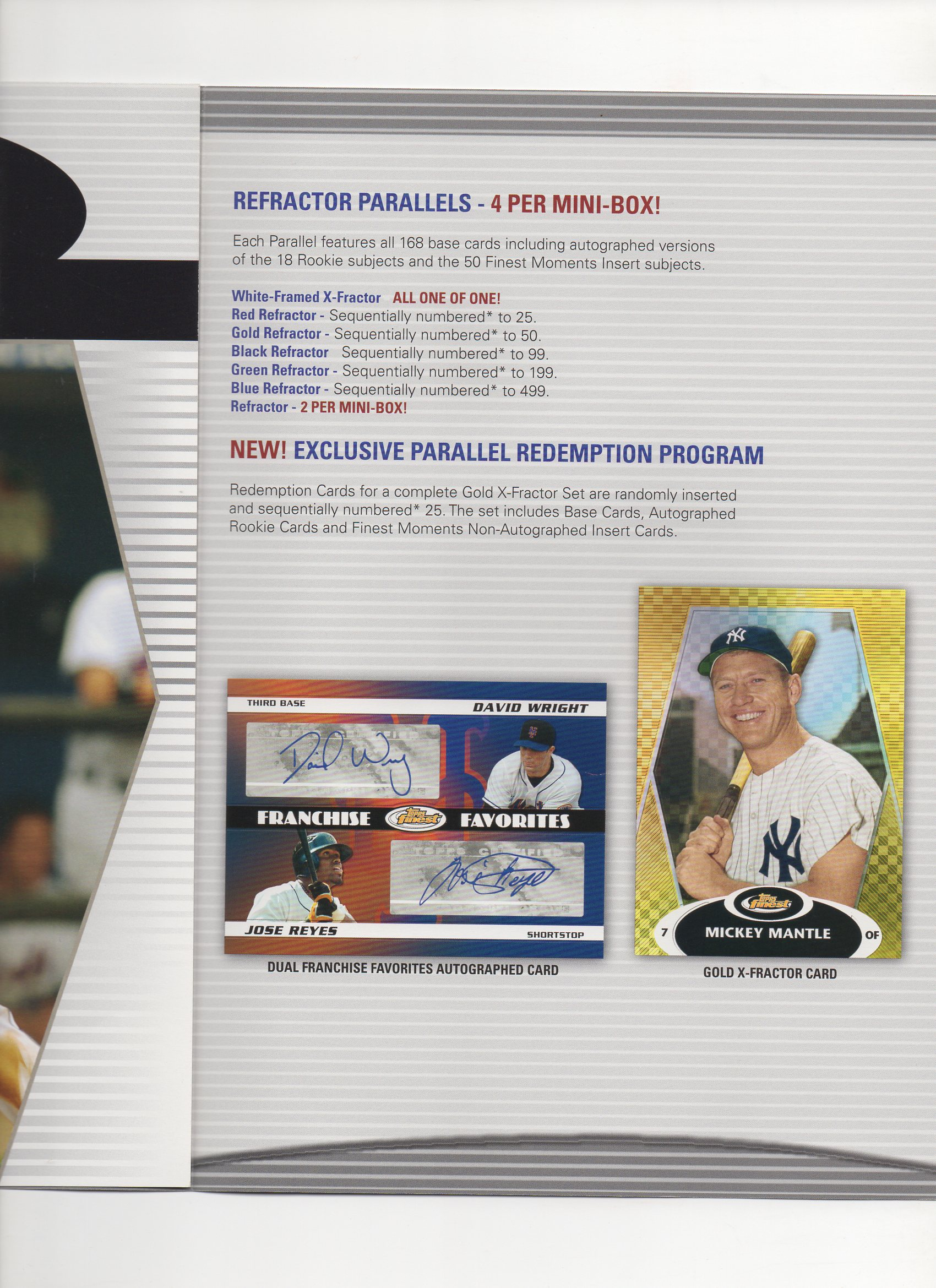 2008 topps 3 page heavy stock foldout