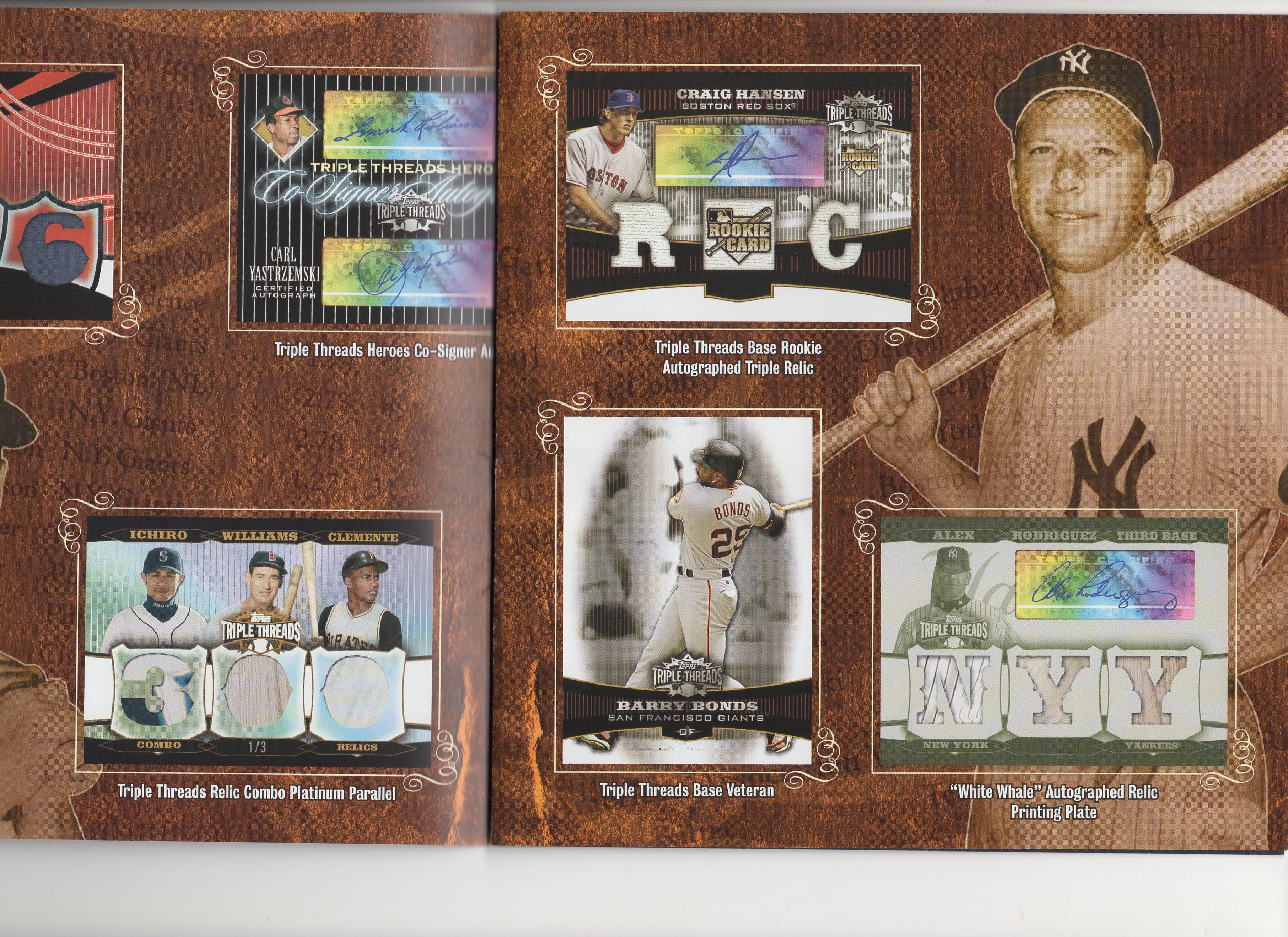 2006 topps 4 page heavy foldout