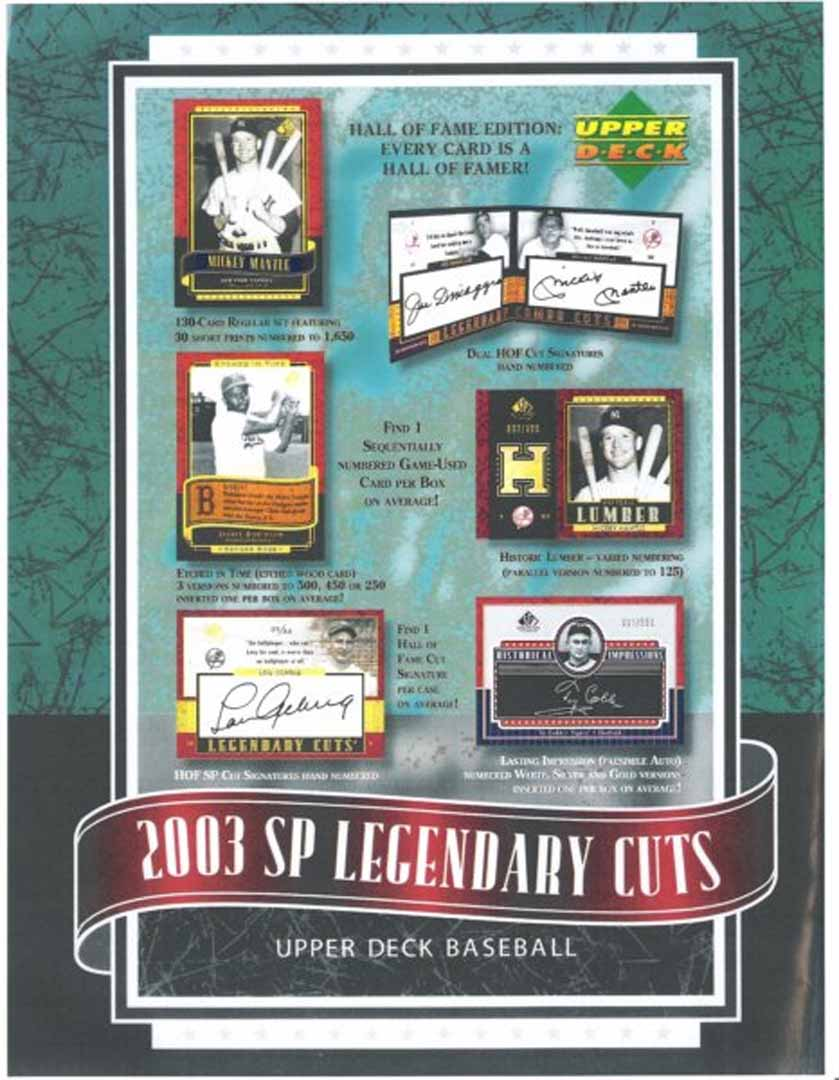 2003 sp legendary cuts