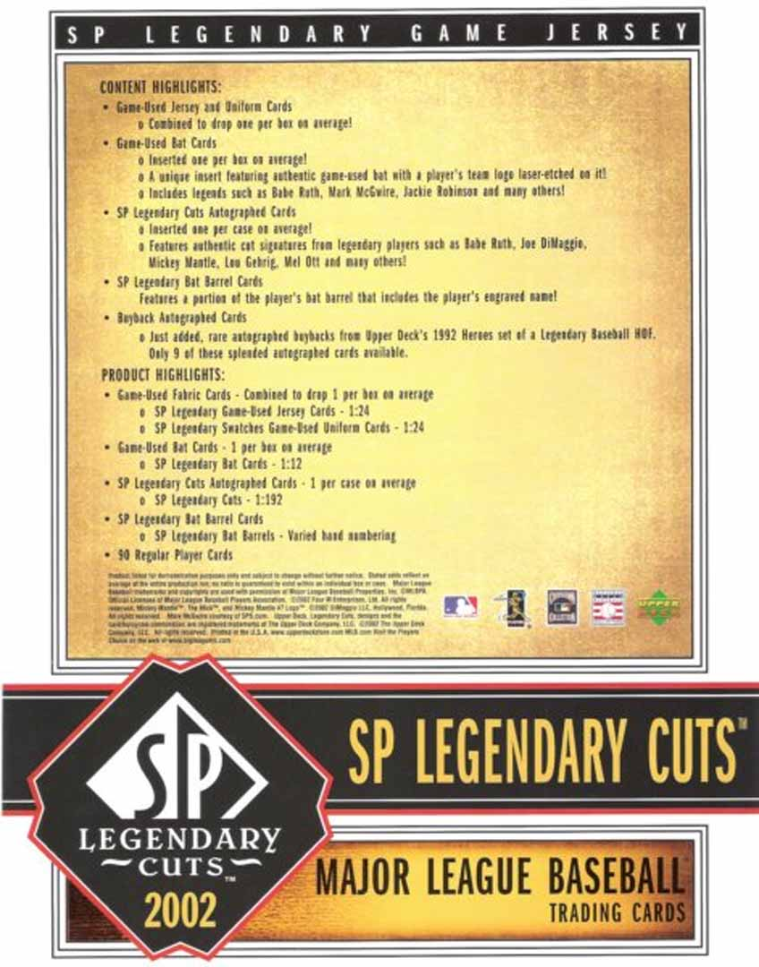 2002-sp legendary cuts