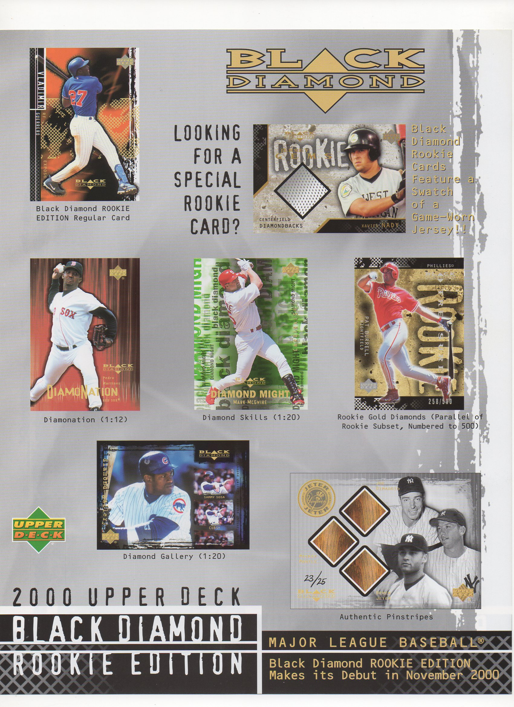 2000 upper deck flyer two sided