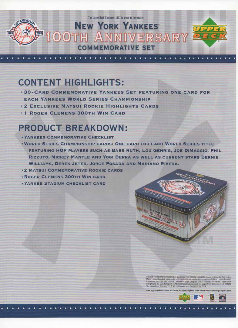 2003 upper deck flyer