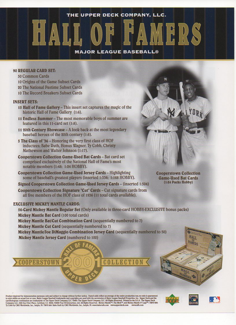 2001 upper deck flyer