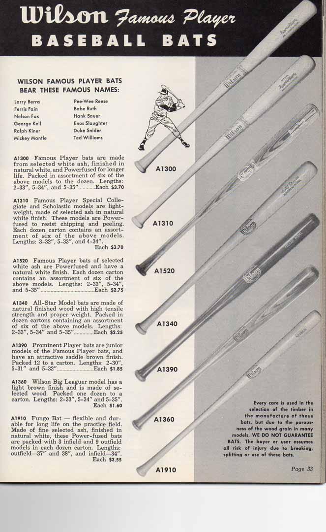 1954 wilson catalog