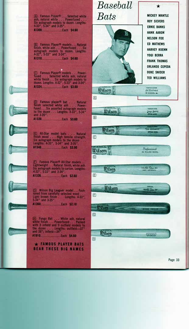 1960 wilson catalog